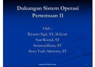 Dukungan Sistem Operasi Pertemuan 11