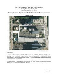 Planning Board Case No. 1559A - City of West Palm Beach