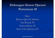 Dukungan Sistem Operasi Pertemuan 10
