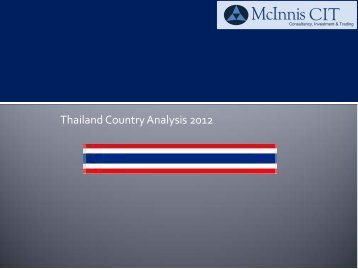 Thailand Country Analysis 2012 - McInnis CIT