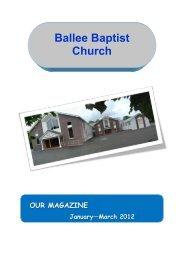 our magazine - Ballee Baptist Church