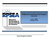 Secure Energy for America RPSEA Unconventional Gas Program Overview