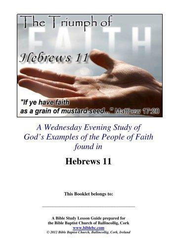 Courageous Faith - Bible Baptist Church of Blarney