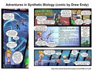 Adventures in Synthetic Biology (comic by Drew Endy)