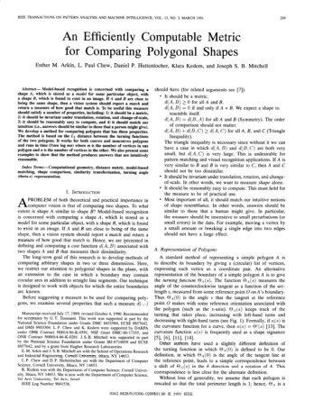 An Efficiently Computable Metric for Comparing Polygonal Shapes