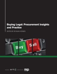 Buying Legal: Procurement Insights and Practice - Managing Partner
