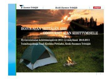 HOIVA-ALAN YRITTÄJÄN ARKI – ODOTUKSET ALAN ...
