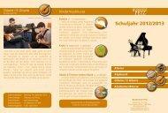 Klavier Keyboard Gitarre / E-Gitarre ... - Musikschule Petz