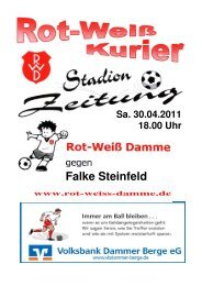 2011.04.30 RW-Kurier Ausgabe 13 - Rot Weiss Damme