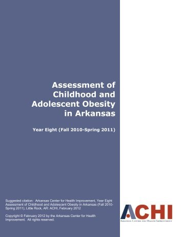 Assessment of Childhood and Adolescent Obesity in Arkansas