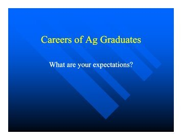 Careers of Ag Graduates g - University of Arkansas at Monticello