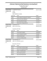 Arkansas Professional Bail Bondsman Licensing Board