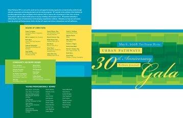 2008 Gala Journal - Urban Pathways