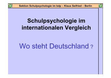Sektion Schulpsychologie im bdp – Klaus Seifried - Nepes