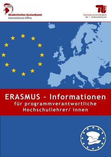 ERASMUS - Akademisches Auslandsamt - Technische Universität ...