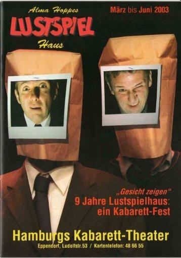 Programmheft Alma Hoppes Lustspielhaus - in Alma Hoppes ...