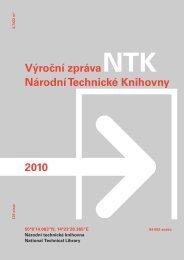 Výroční zpráva NTK 2010 - Národní technická knihovna