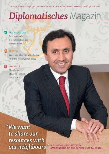 dazu bitte hier klicken. - Botschaft der Republik Tadschikistan