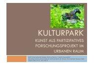 Culture Part: Art as participative research project for - DMY