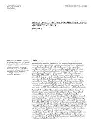 birinci ulusal mimarlık dönemi izmir konutu - Journal of the Faculty of ...