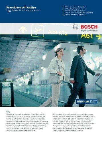 Praesideo sesli tahliye Uygulama Notu: Havaalanları