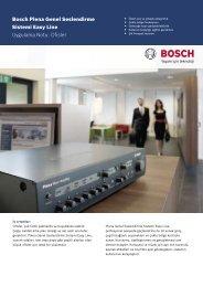 Bosch Plena Genel Seslendirme Sistemi Easy Line Uygulama Notu ...
