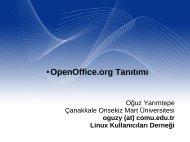 OpenOffice.org Tanıtımı - Linux Kullanıcıları Derneği