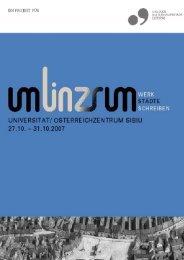 Dokumentation Sibiu - Linz 2009