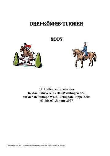 12. Hallenreitturnier des Reit-u. Fahrvereins HD ... - Reitanlage Wolf