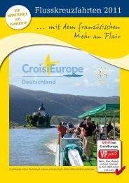 Flusskreuzfahrten 2011 - CroisiEurope