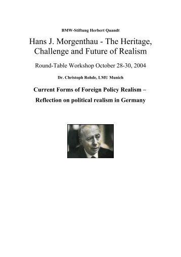 Hans J. Morgenthau - Politischer Realismus