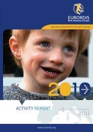 Activity report 2010 - Eurordis