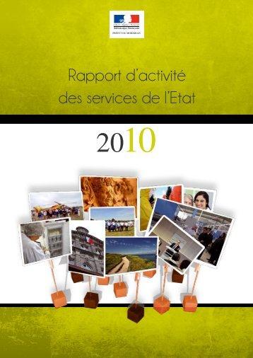 Rapport d'activité des services de l'Etat - Préfecture