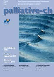 EUROPEAN JOURNAL OF PALLIATIVE CARE - Palliative ch