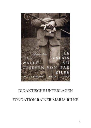 Fondation Rilke: neue Dauerausstellung - Fondation Rainer Maria ...