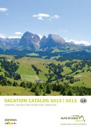 Vacation Cataloge 2012/13 (pdf 25.27 MB) - Seiser Alm