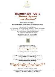 Silvester 2011/2012 - Hotel Jagdhof Glashütte