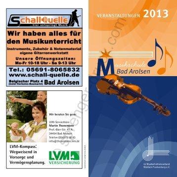 2013 - Musikschule Bad Arolsen