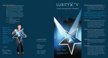 Sie sind nominiert! - Luxity.TV