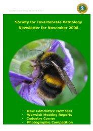 Society for Invertebrate Pathology Newsletter for November ... - Univap