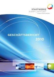 GESCHÄFTSBERICHT - Stadtwerke Kamp-Lintfort GmbH