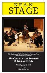 The Concert Artist Ensemble of Kean University - ASTA/NJ