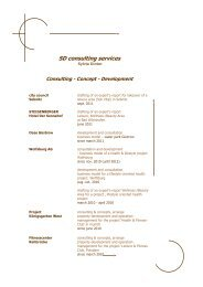 Consulting - Concept - Development - SD Group