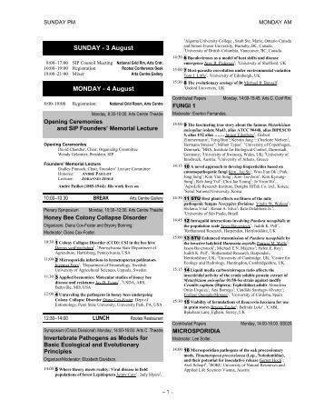 Program (Final, July 17, 2008) - Department of Entomology