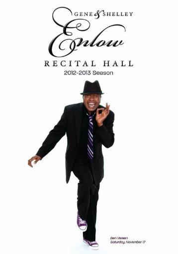 Enow - Enlow Recital hall - Kean University