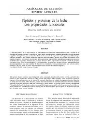 Péptidos y proteínas de la leche con propiedades funcionales