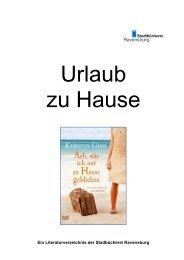 Ein Literaturverzeichnis der Stadbücherei Ravensburg - Stadt ...