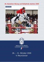 Auktionskatalog 2009 - Holsteiner Verband