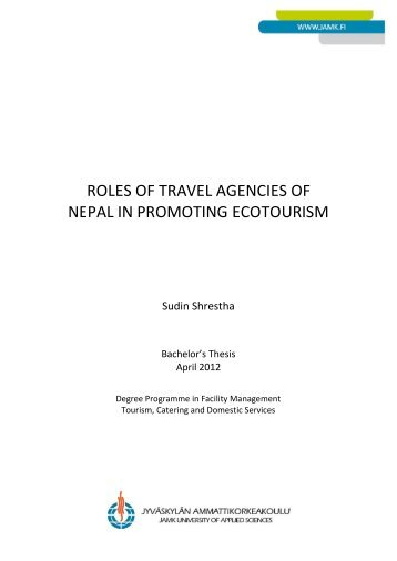 roles of travel agencies of nepal in promoting ecotourism