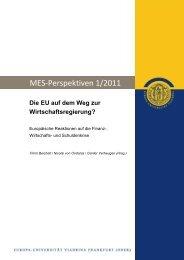 Die EU auf dem Weg zur Wirtschaftsregierung? - Europa-Universität ...